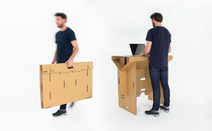 Стол из картона своими руками фото